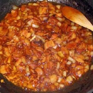 Жареная колбаса с картофелем  - фото шаг 11