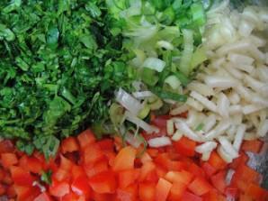 Салат из нута и перца - фото шаг 3