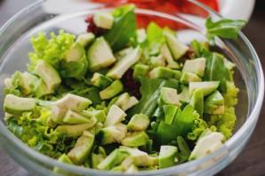 Салат с угрем - фото шаг 5