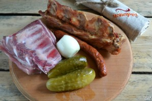 Солянка с мясом - фото шаг 1