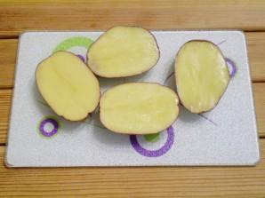 """Картошка с салом в духовке """"Кораблики"""" - фото шаг 2"""