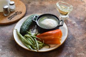 Салат со стручковой фасолью без майонеза - фото шаг 1