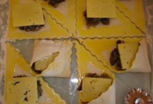Закусочные пирожки с грибами и сыром - фото шаг 3