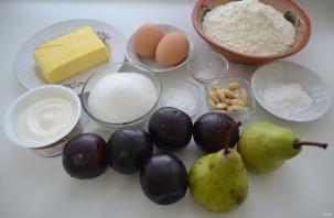 Пирог с грушами и сливами - фото шаг 1