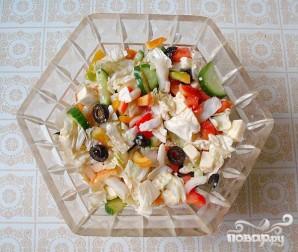 Греческий салат на Новый год - фото шаг 6