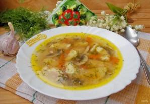 Грибной суп с клецками - фото шаг 15