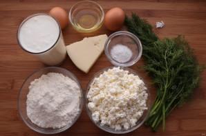 Хачапури с творогом на сковороде - фото шаг 1