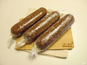 Шоколадная колбаса из печенья - фото шаг 7