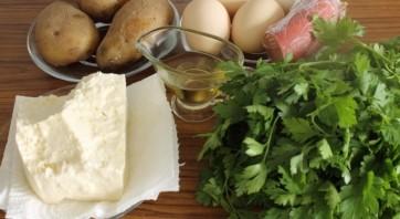 Омлет с картошкой в духовке - фото шаг 1