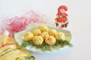 Крабово-сырные шарики - фото шаг 5