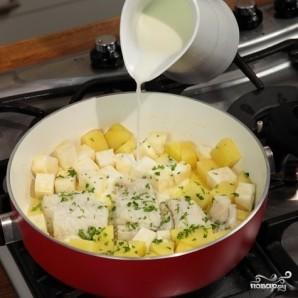 Треска с картошкой - фото шаг 4