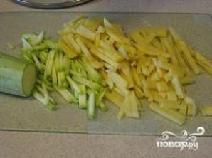 Картошка с кабачками - фото шаг 1