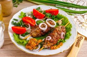 Люля-кебаб из рубленого мяса