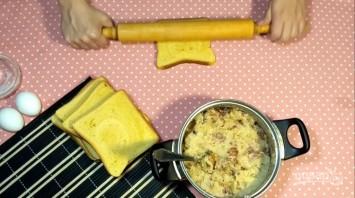 Лентяйские пирожки из хлеба - фото шаг 4
