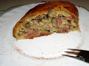Мясной пирог в духовке - фото шаг 10