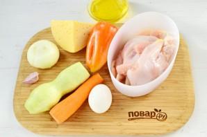 Фаршированная грудка индюшки овощами - фото шаг 1