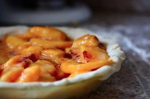 Персиковый пирог из песочного теста - фото шаг 11