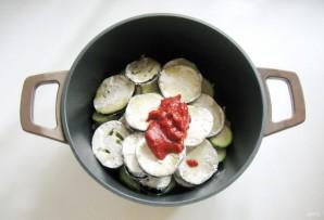 Тефтели с кабачками и баклажанами в соусе - фото шаг 6
