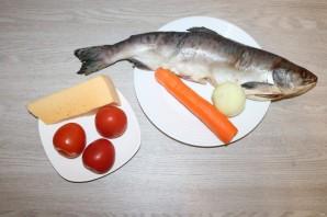 Горбуша с помидорами и сыром в духовке - фото шаг 1
