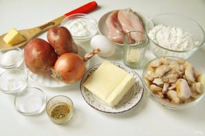 Пирог с картошкой, грибами и курицей - фото шаг 1