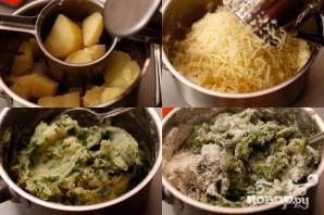 Картофельные клецки со шпинатом - фото шаг 2