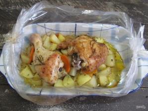 Курица в духовке с картошкой в пакете для запекания  - фото шаг 7