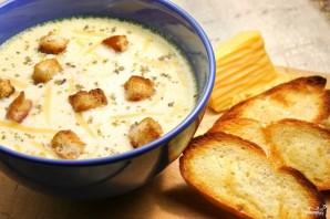 Сырный суп с гренками - фото шаг 7