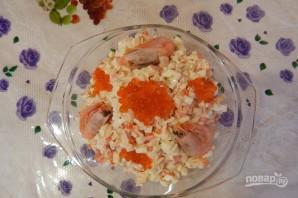 Салат царский с красной икрой - фото шаг 4