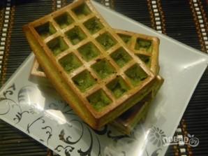 Диетические зеленые вафли с мороженым - фото шаг 6