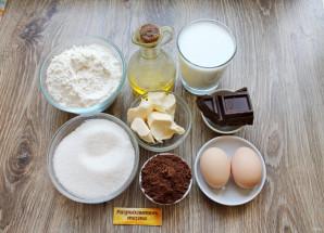 Шоколадный торт на молоке - фото шаг 1