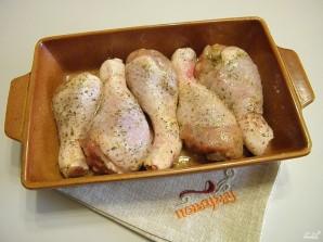 Куриная голень под соусом - фото шаг 3