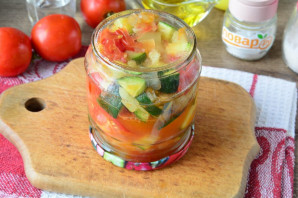 Цукини с помидорами и перцем на зиму - фото шаг 10