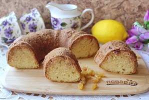Лимонный кекс с изюмом - фото шаг 11