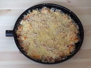 Пицца из хлеба на сковороде - фото шаг 8