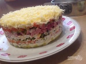 """Праздничный торт-салат """"Оливье"""" - фото шаг 7"""