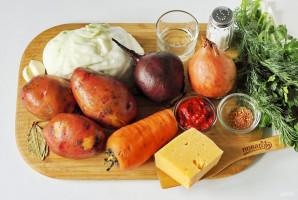 Борщ с сыром - фото шаг 1