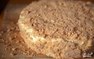 Бисквитный торт с орехами - фото шаг 5
