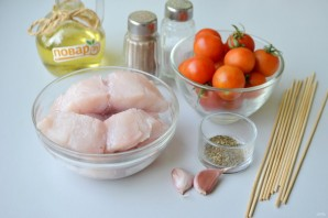 Шашлык из рыбы с помидорами черри - фото шаг 1