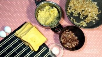 Лентяйские пирожки из хлеба - фото шаг 3