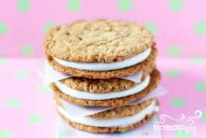 Овсяное печенье с зефирной начинкой - фото шаг 3