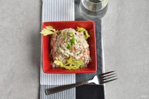Салат из сайры консервированной - фото шаг 6