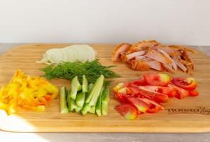 Курица с овощами на гречневой галете - фото шаг 6