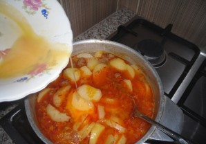 Суп с фаршем и яйцом - фото шаг 7