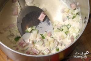 Окрошка с колбасой - фото шаг 12