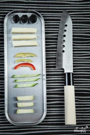 Салат с рисовой лапшой - фото шаг 2