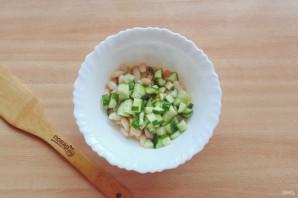 Салат с фасолью и огурцами - фото шаг 6
