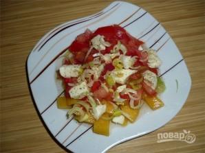 Салат из манго, томатов и моцареллы - фото шаг 8