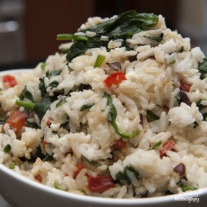 Рис со шпинатом и сыром - фото шаг 7
