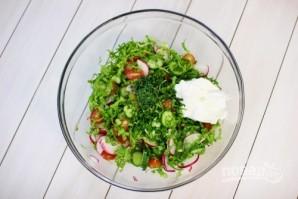 Легкий овощной салат - фото шаг 5