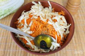 Салат с пекинской капустой и яблоком - фото шаг 6